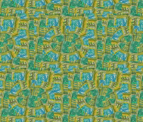 green colored pencil fabric by kimmurton on Spoonflower - custom fabric