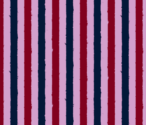 distress stripe 3 color orchid burgundy navy fabric by whatever-works on Spoonflower - custom fabric