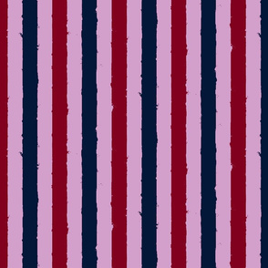 distress stripe 3 color orchid burgundy navy