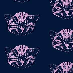 kitty medium navy light orchid