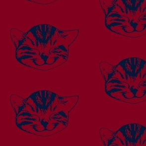 kitty medium burgundy navy