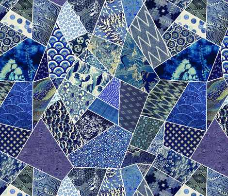 Indigo Origami  fabric by the_outfoxed on Spoonflower - custom fabric