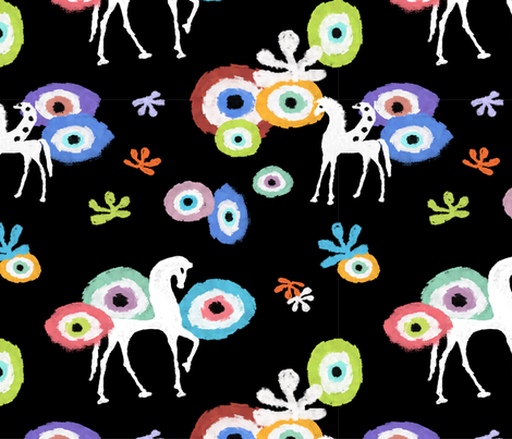 Gift Horse & Evil Eye fabric by rhihare on Spoonflower - custom fabric