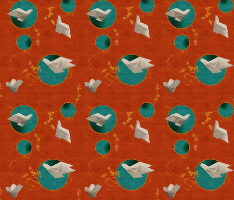 origami pigeon fabric by dessineo on Spoonflower - custom fabric