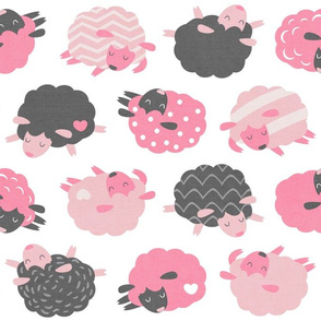 Sleepy Sheep Pink