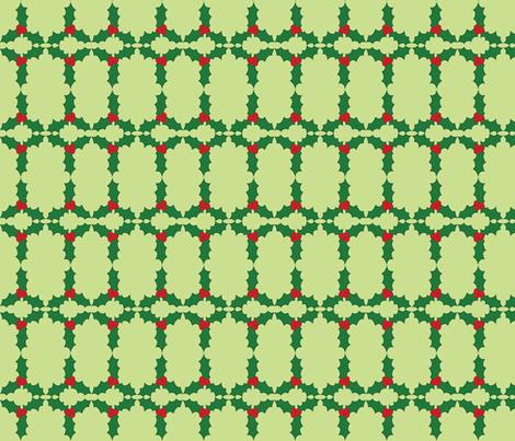 Holly Pattern fabric by lehoux_art on Spoonflower - custom fabric