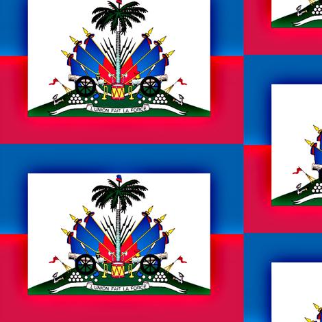 Haitian Flag fabric by robin_rice on Spoonflower - custom fabric