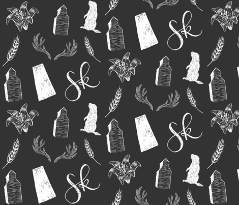 Prairies - Dark - Large fabric by courtneyrosedesign on Spoonflower - custom fabric