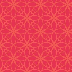 Mosaic Print in Pink and Orange