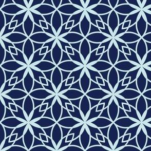 Mosaic Print in Blues