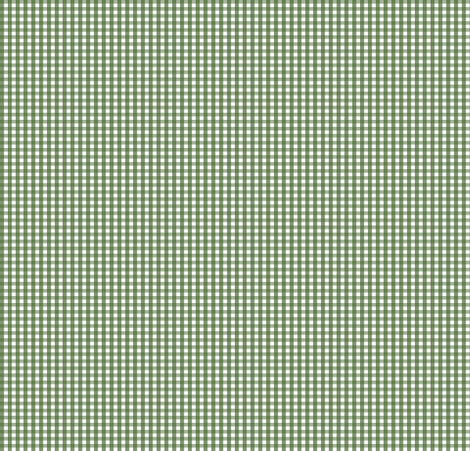 "gingham 1/16"" hunter green fabric by misstiina on Spoonflower - custom fabric"