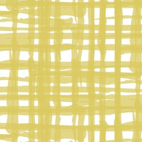 (3) Yellow Gold White Linen || Distressed grunge large scale check home decor _ Miss Chiff Designs