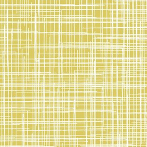 Yellow Gold Linen Texture || Distressed Grunge Large Scale Check home decor  _ Miss Chiff Designs