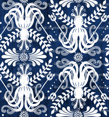 Mythos - Nautical Damask Blue