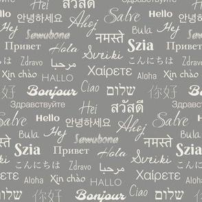 hello languages gray