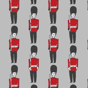 london soldier // palace guards tourist england fabric grey