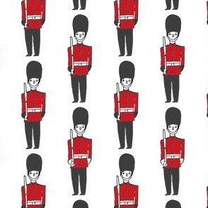 london soldier // palace guards tourist england fabric white red