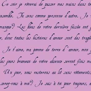 lettre d'amour orchid pale marine