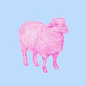 Pink Sheep Nursery Decor