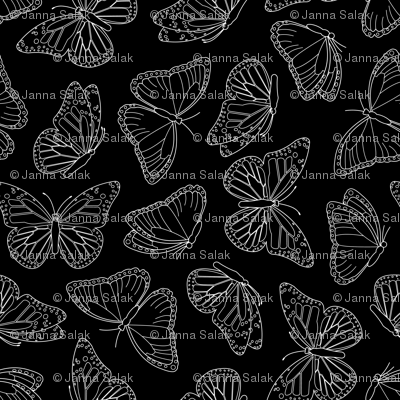 Elegant Butterfly Black