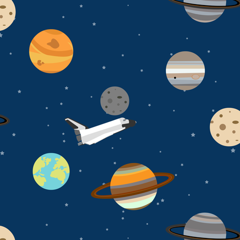 Space shuttle planet exploration wallpaper jannasalak for Space shuttle fabric