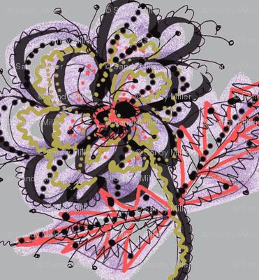 flower stem-gray l