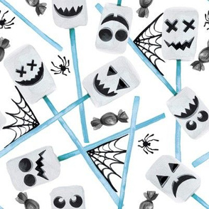 "8"" Spooky Marshmallow Ghosts // Light Blue"