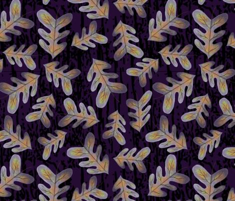 tossed autumn leaves purple background fabric by venasensenbaugh on Spoonflower - custom fabric
