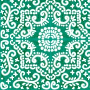 Spanish Tile N9 (Pantone Emerald Green) reversed