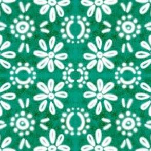 Spanish Tile N10 (Pantone Arcadia Green) reversed