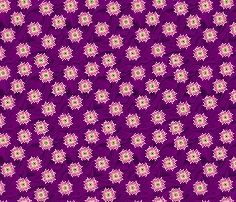 Pink Flower Over Plum swirl fabric by andrusgardens on Spoonflower - custom fabric