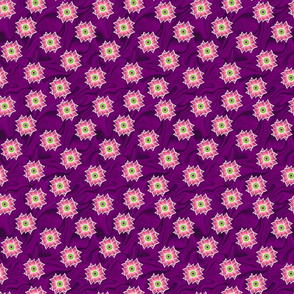 Pink Flower Over Plum swirl