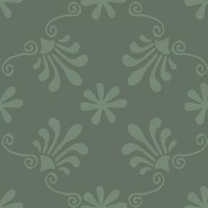 Greek Tile - Moss