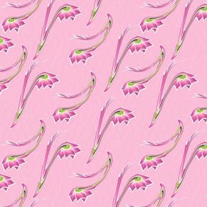 Swirled Flower Over Lt Pink