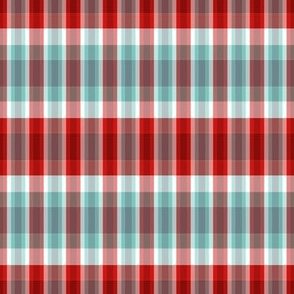 red-turquoise plaid