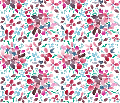 Romantic Floral Scattered Light fabric by inezjestine on Spoonflower - custom fabric