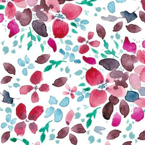 Romantic Floral Scattered Light