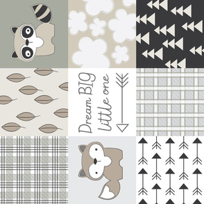 sideways raccoon-wholecloth-neutrals
