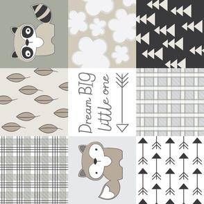 sideways raccoon-wholecloth-neutrals
