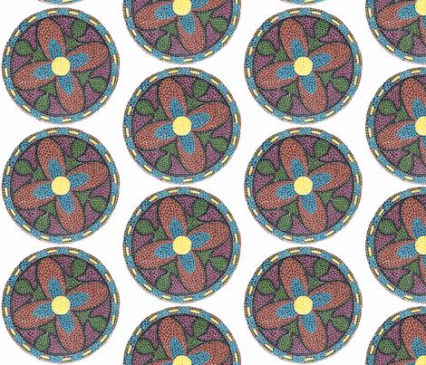 mosaic fabric by bev_ on Spoonflower - custom fabric