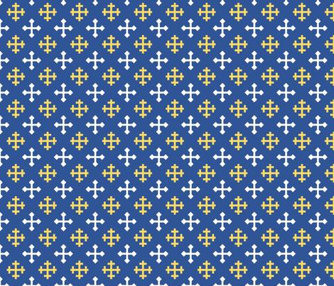 Greek Crosses fabric by st_tabithas_workshop on Spoonflower - custom fabric