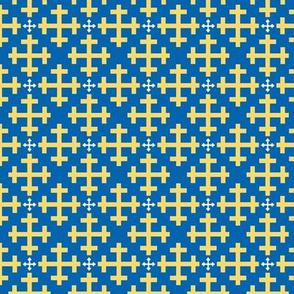 Greek Crosses in Lattice