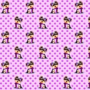 Yorkie Violet pink S