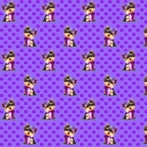 Yorkie Violet purple S