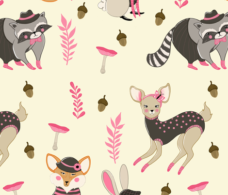 woodland tales fabric by cecilia_granata on Spoonflower - custom fabric