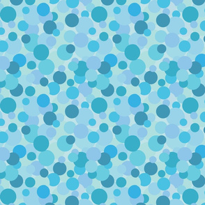 Polka Dots - Blue on Blue