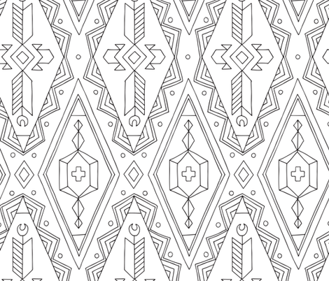 SKETCHY KILIM fabric by pattysloniger on Spoonflower - custom fabric