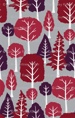 Trees on medium Grey