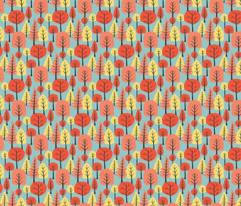 Bright trees fabric by onelittleprintshop on Spoonflower - custom fabric