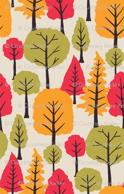 Bright retro Trees